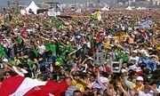 Três milhões de fiéis acompanham missa do papa em Copacabana neste domingo (28)