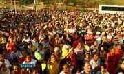 Fiéis participam de procissão em homemagem a Mártir Beningna em Santana do Cariri