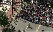 Grupo de extrema-direita faz manifestação em Boston, EUA