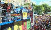 """""""Olodum """" levanta foliões em Salvador"""