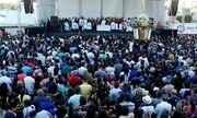 Milhares de fiéis participam da procissão de Santa Rita de Cássia no interior do RN