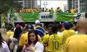 Ato a favor de Bolsonaro ocupa duas faixas da Avenida Paulista