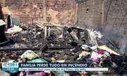 Incêndio destrói casas em Vila Velha, ES, e família perde tudo