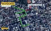 Fiscais orientam o trânsito no centro de Curitiba