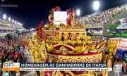 Ganhadeiras de Itapuã são homenageadas em desfile de escola de samba do Rio de Janeiro