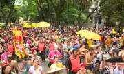 Música baiana embala 'Bloco da Massa Real' em São Paulo
