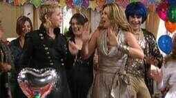 Jaqueline e seus convidados dançam Ilariê com Xuxa