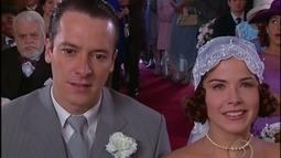 Guilherme e Celina se casam