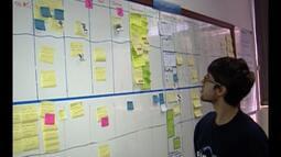 Estudantes aprendem na prática como funciona uma empresa