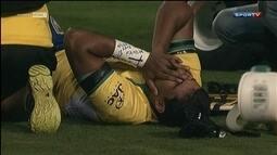 Jogador de rúgbi da seleção brasileira quebra a perna de forma feia em amistoso