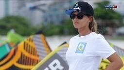 Milla Ferreira, 3ª no ranking mundial de kitesurf