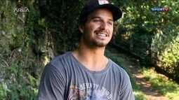 Homenagem ao surfista Ricardo dos Santos, assassinado em Santa Catarina há 1 ano