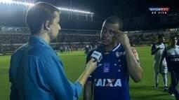Mayke elogia atuação do Cruzeiro, mas pede mais atenção aos contra-ataques