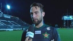 Márcio lamenta derrota, mas diz que Portuguesa jogou muito bem contra o Botafogo