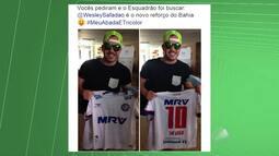 Cantor Wesley Safadão ganha camisa do Bahia