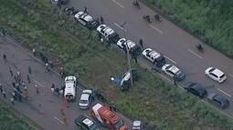 Viatura capota na 070 e policial morre