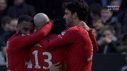 Os gols de Angers 0 x 3 Lyon pelo Campeonato Francês