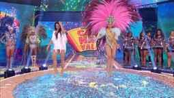 Campeã do Musa do Carnaval encerra 'Caldeirão' com muito samba ao lado de Gracyanne
