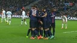 Os gols de Olympique de Marselha 1 x 2 PSG pela 25ª rodada do Campeonato Francês