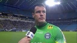 Wilson lamenta derrota e chance perdida de ser goleiro com mais tempo sem sofrer gols