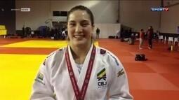 Brasil vence mais três medalhas no Grand Slam de judô; Mayra Aguiar fica com ouro