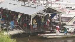Feriado faz movimento aumentar na Marina do Davi, em Manaus