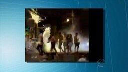 Polícia usa gás lacrimogênio e balas de borracha para conter briga em Campo Grande