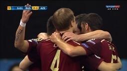 Os gols de Russia 6 x 2 Azerbaijão pela Uefa Euro de Futsal