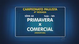Confira os jogos da 4ª rodada do Campeonato Paulista