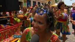 Grupo de percussão formado por mulheres anima carnaval de Olinda
