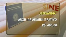 Sine de Uberlândia tem cinco vagas para aprendiz de auxiliar administrativo