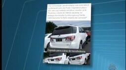 Ministério Público investiga uso de placa oficial em carro particular