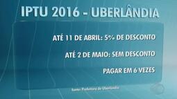 Carnês do IPTU começam a ser distribuídos em Uberlândia
