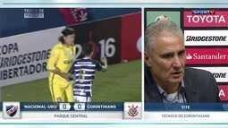 Tite comenta empate do Corinthians com o Nacional-URU pela Libertadores