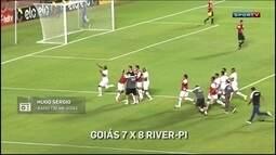 Hugo Sérgio narra pênaltis de Goiás 7 x 8 River-PI