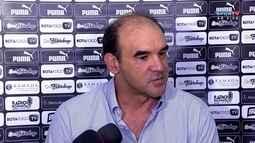 Ricardo Gomes diz que Coruripe foi superior ao Botafogo, após expulsão de Bruno Silva
