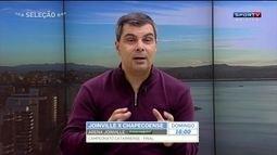 Rodrigo Faraco destaca boa campanha do Chapecoense e melhora do Joinville