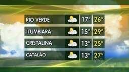 Confira a previsão do tempo para Goiás nesta semana