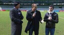 Brito, Maurício e Diogo Olivier visitam Estádio Alfredo Jaconi