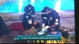 Polícia faz simulação de morte em piscina de hotel na Zona Sul do Recife