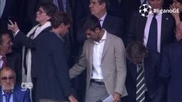 Djokovic e Rafael Nadal assitem partida entre Real Madrid e Manchester City na Espanha