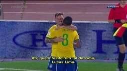 Redação AM: Daniel Mollo narra gol de Lucas lima contra Argentina