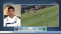 Renato, do Santos, comenta vitória sobre o Coritiba e possível saída de Lucas Lima
