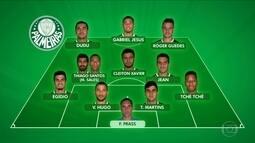 Veja provável time do Palmeiras hoje contra o Fluminense