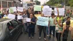 Protestos contra as mudanças na saúde foram realizados nesta quarta-feira (25), em Manaus