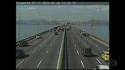 Confira o movimento na Ponte Rio-Niterói neste feriado