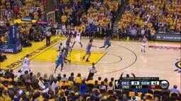 Veja os lances da noite notável de Stephen Curry contra o Oklahoma City Thunder