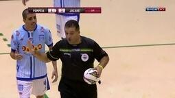 Partida entre Pompéia e Jacareí, pela Liga Paulista de Futsal, é suspensa
