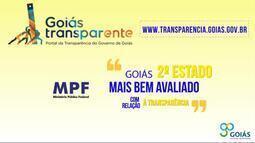 Goiás é 2º lugar no ranking de transparência do MPF