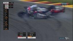 Jorge Lorenzo sofre quedas feias no circuito da Alemanha da MotoGP